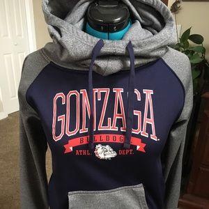 Gonzaga University cowel neck hooded sweatshirt